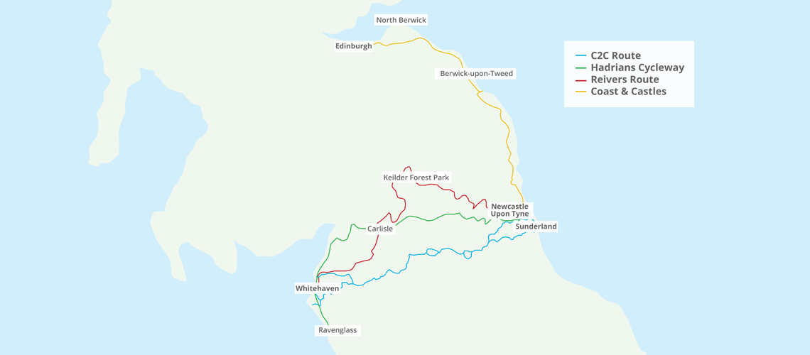 Map Of Uk Coastline.Cycle Guides Www C2c Guide Co Uk Home